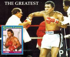 "1993 Muhammad Ali ""The Greatest"" Sierra Leone Souvenir Sheet of 1 Stamp"