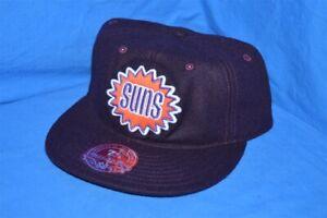 PHOENIX SUNS WOOL LOW PROFILE PURPLE ORANGE MITCHELL & NESS NWT HAT CAP 7 5/8