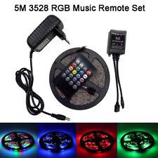 RGB LED 5M 3528 SMD Strip Light + 20/24/44key Remote Music Controller IR + Power
