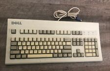 Vintage DELL AT101W PS/2 Mechanical Black Alps Keyboard GYUM90SK