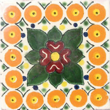 #C024) Mexican Tile sample Ceramic Handmade 4x4 inch, GET MANY AS YOU NEED !!