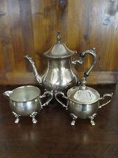 Set teiera, zuccheriera, lattiera  argentato - silver plated - sheffield -  '900