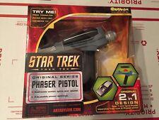 Star Trek Art Asylum / Diamond Select Black Handle Phaser Toy With Sound & Light