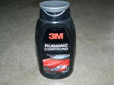 (1) BOTTLE 3M 39002 ADVANCED RUBBING COMPOUND 16 oz CAR AUTO WATER SPOT REMOVER