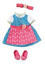 Zapf BABY born 822852 Dirndl Puppenbekleidung Kleid Oktoberfest Tracht Puppe