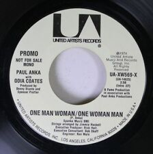 Rock Promo 45 Paul Anka With Odia Coates - One Man Woman/One Woman Man / One Man