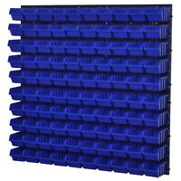 Stapelboxen Wandregal Box Sichtlagerkästen Schüttenregal Lagersystem 100 Boxen