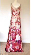 MONSOON SILK MAXI DRESS SUKI 20 IVORY RED PINK FLORAL SUMMER OCCASION WEDDING