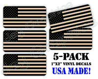 5pack Desert Tan Black Ops American Flag Hard Hat Decals Helmet Stickers Digital
