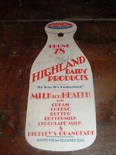 Milk Bottle hanger Highland dairy Bireley's Orangeade Audrain county Missouri