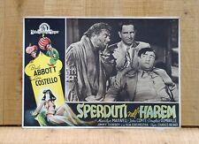 SPERDUTI NELL'HAREM fotobusta poster Bud Abbott Lou Costello Lost in a C92