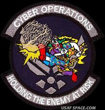 USAF CYBER COMMAND - CYBER OPERATIONS - ORIGINAL AIR FORCE PATCH