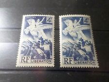 FRANCE 1945, VARIETE COULEUR, timbre 669, LIBERATION, CHEVAL, neuf** MNH