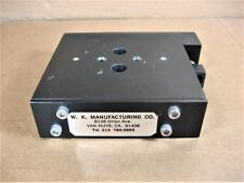 """W K Manufacturing  Linear Stage 4-3/4""""L x 4""""W x 1-1/8""""Ht  Spring Loaded"""