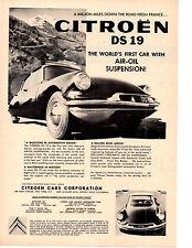 1958 CITROEN DS-19  ~  CLASSIC ORIGINAL PRINT AD