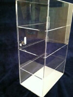"Acrylic Countertop Display Case 12"" x 8"" x 19.5"" Locking Security ShowCase"