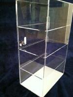 "Acrylic Counter Top Display Case Acrylic Locking Show Case 12"" x 7"" x 20.5"""