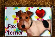 Fox Terrier Dog Gift Dog Puppy Fridge Magnet 77x51mm Xmas Stocking Filler