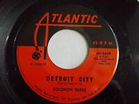 Solomon Burke Detroit City / It's Been A Change 45 1967 Atlantic Vinyl Record
