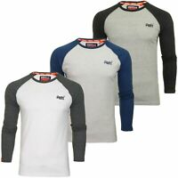Superdry Mens Long Sleeved Baseball T-Shirt