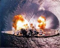 Wall Decor USS Missouri Battleship Firing Guns Military Navy Art Poster (16x20)