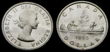 CANADA 1955 Silver One 1 Dollar Piece Queen Elizabeth II PL-64