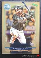 Charlie Blackmon 2020 Topps Gypsy Queen SP Chrome Rockies Baseball Card #103