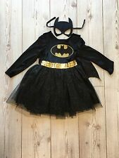 Girls Batman tutu costume And Cape with Mask Age 4/5/6 Years New