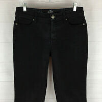 St. John's Bay womens size 6 stretch faded black mid rise straight denim jeans