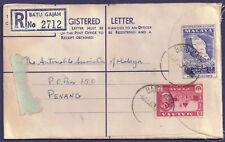 Malaya Perak 1957 5c carmine-lake sg 153 on 10c PP Cover Batu Gajah 8 Jul 60