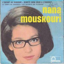 """45 T EP NANA MOUSKOURI   """"L'ENFANT AU TAMBOUR"""" (POCHETTE PAPIER)"""