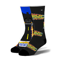 Odd Sox Men's Crew Socks - Time Traveller (Back to the Future)-(Uk 6-12)