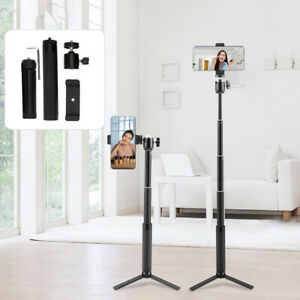 Aluminium Alloy Live Stand Selfie Stick Tripod with 5 Sections Extension Rod
