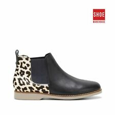 Hush Puppies DARYA Black Womens Ankle Boot Casual Leather Boots