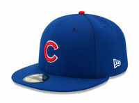 New Era 59Fifty Mens MLB Cap Chicago Cubs On Field Fitted Game Hat Royal Blue