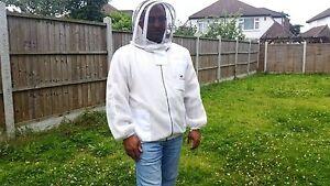 Ventilated beekeeping jacket beekeeper jacket Bee jacket with fencing veil-2XL