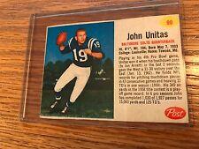 1962 POST #90 JOHN UNITAS EX