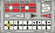 Eduard 53198	1/72 German U-Boat Flags Steel (Painted)