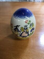 Kg Tradition France Ceramic Hand Painted Country Peasant Egg Quimper-Style