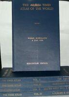 The Times Atlas of the World. MID-Century Edition 5 vol Set  1955-1959. Hardback