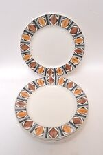 Set of 5 Dinner Plates by Kathie Winkle for Broadhurst Pottery 'Mexico' Design