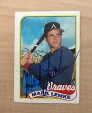 MARK LEMKE ATLANTA BRAVES SIGNED AUTOGRAPHED 1989 TOPPS CARD #327 W/COA