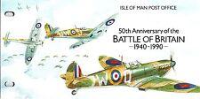 ISLE OF MAN Presentation Pack 1990 BATTLE OF BRITAIN 50TH ANNIVERSARY