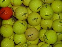 40 Grade B yellow Titleist golf balls PTS DT So/Lo Solo etc