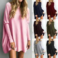Womens Batwing Sleeve Sweater Baggy Jumper Loose Sweatshirt T-Shirt Top Blouse