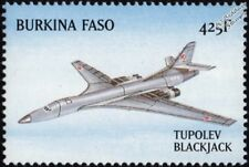 "TUPOLEV Tu-160 ""Blackjack"" (White Swan) Russian Strategic Bomber Aircraft Stamp"