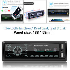 4-Channel Digital Car Bluetooth Audio Stereo Player LCD Touch Screen USB/SD/FM