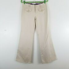 Banana Republic Martin Fit Pants Size 6 Flare Leg Beige Womens Trouser