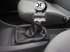 Negro Cuero Real De Puntada MANUAL GEAR GAITER se ajusta Seat Ibiza Cordoba 2002-2008