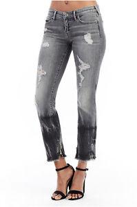 True Religion Women's Sara Mid Rise Cigarette Jeans Size 26 NWT Dark Chrome Wash